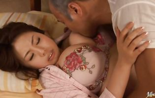 Beguiling mature Rin Aoki loves sucking raging chopper passionately