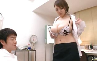 Frisky busty Hitomi Tanaka begs for hardcore and enjoys a load of cum