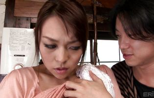Inviting Reiko Nakamori is giving a great blowjob to lover she likes a lot