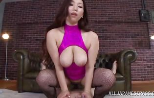 Amazing busty girl Sayuki Kanno is having casual sex with stud she likes