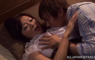 Marvelous floosy Kaori got her cuchy licked and drilled the way she likes