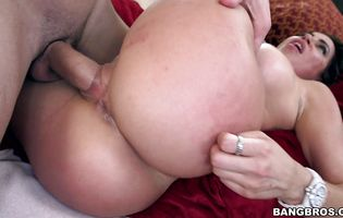 Delightful perfection Julianna Vega is delighted to be stretched by a thick big cock