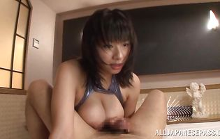Delicious Hana Haruna receives a rough doggy style plowing