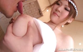 Muscular guy plows beguiling Momoka Nishina