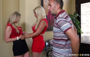 Engaging blonde Abbey Brooks likes being doggy styled hard and fast