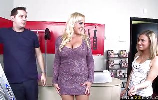 Busty blonde sweetheart Alexis Golden is lovable and enjoys riding a hard pecker