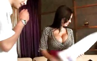 Cunning honey Sienna West is having casual sex with a fellow and enjoying it a lot