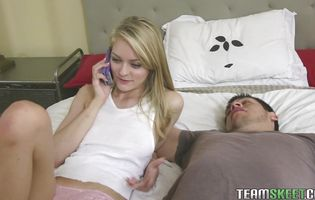 Charming blonde Alli Rae receives a firm banging