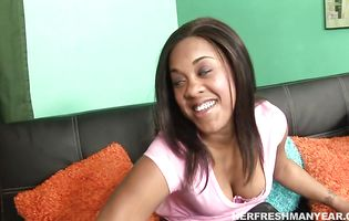 Naughty girl Candi Dreamz got stuffed from the back until she started moaning and screaming from pleasure